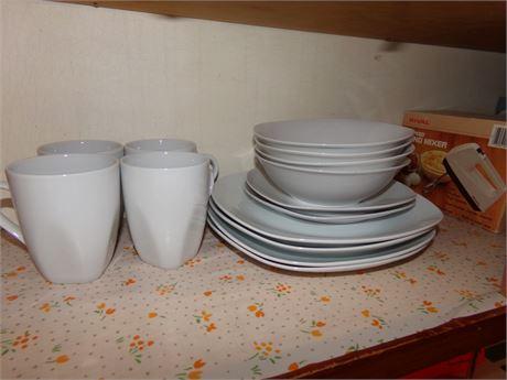 4 Plates, Cups, and Bowls, 2 Salad Plates, Decorative Plates, 8 Rhapsody Bowls