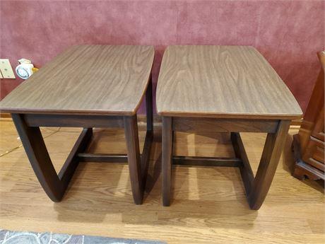 Pair of Vintage Formica Top End Tables