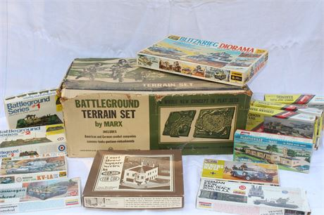 MARX Box Filled Various Scale Model Kits War Related