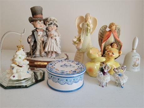 Figurines & Misc - 9 - Armani, Lennox, Hollie Hobbie, Hugging S&P