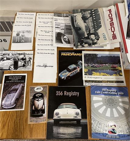 """Porsche Enthusiast Lot - """"The Voice from the Trunk"""" Newsletters, Calendars, More"""
