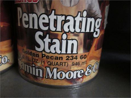 2 - Qts Benjamin Moore Penetrating Golden Pecan Interior  Stains
