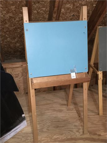 Double Sided Chalkboard Easel with Chalk Tray