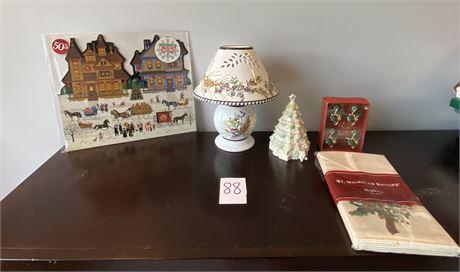 Beautiful Lenox and Wysocki Holiday Items