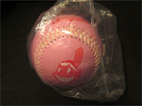 New Official Cleveland Indians Pink Baseball Souvenir