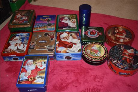 Lot of Oreo Holiday Tins-Dated/Limited Edition-and more