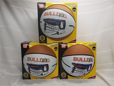 3 Gonzaga Bulldogs Basketballs