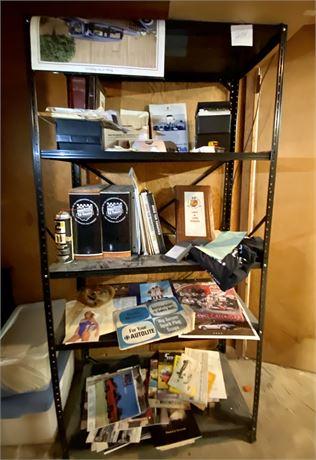 Loaded 356 & More Basement Shelf Unit Cleanout - See Photos and Description