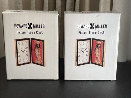 Pair of Howard Miller Picture Frame Clocks - new in box