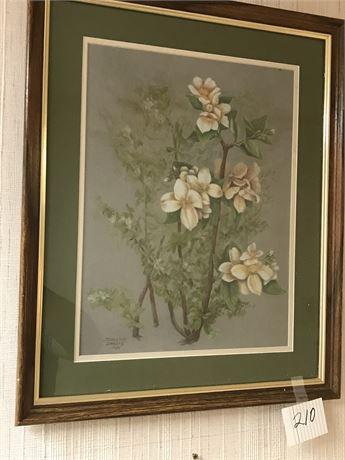 Original Color Pencil Framed Art signed Jeannine Swarts