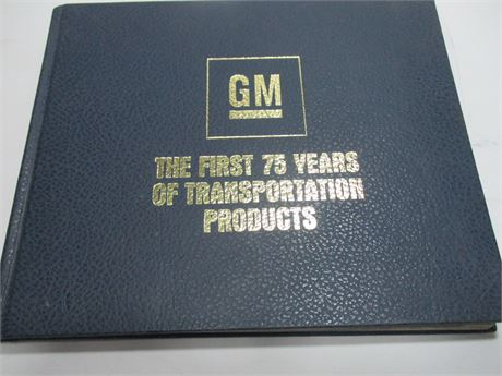 General Motors 75 Year anniversary Book w Roger Smith Signed Letter