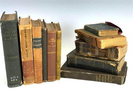 BOOKS Antique books Group Lot