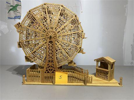 Vintage Handmade Ferris Wheel - Scroll Saw Fretwork Sensation
