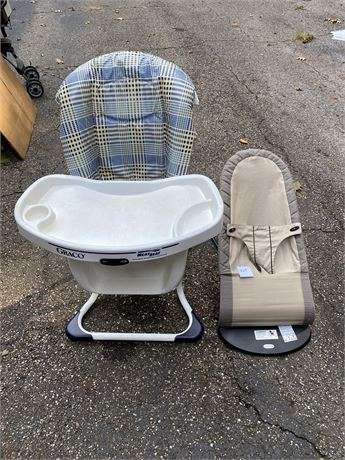 Baby Bjorn Bouncy Seat & Graco Neat Seat Chair