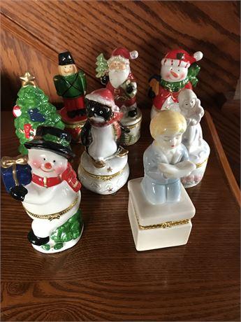 Christmas Themed Ring Box Lot (8)