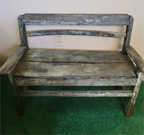 Child's Wooden Bench - Primative