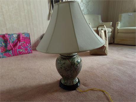 Bird print lamp
