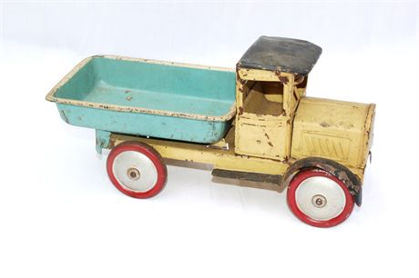 Early German Pressed Steel Dump Truck