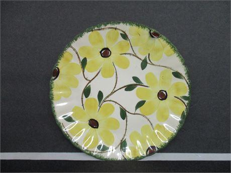"""Vintage 9 1/2"""" Southern Potteries Blue Ridges Floral Plate"""