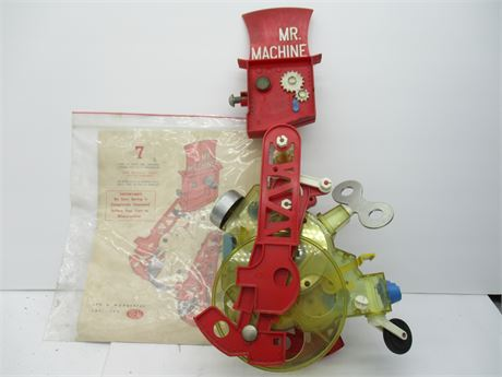 """Rare IDEAL """"Mr Machine""""  Wind UP Mechanical Robot Toy 1960's"""