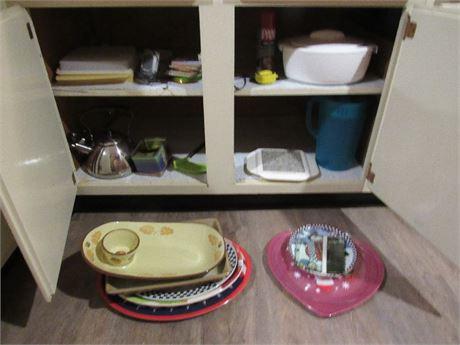 Cupboard Clean Out - Teapot, Serveware, Misc