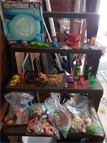 Tote of older small toys