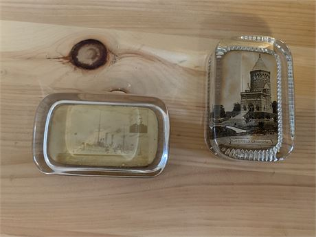 Vintage photo paper weights