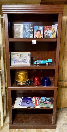 Shelf & Contents - Elvis DVDs, Model Cars, More (see description for contents)