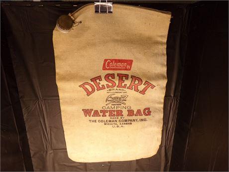 Coleman canvas water bag