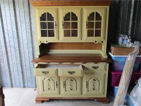 Vintage MCM Temple Stuart Premium Fine Furniture Buffet Hutch