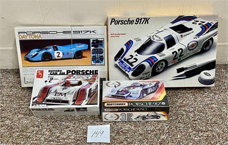 Vintage Plastic Porsche 917 Unbuilt Kits - New in Boxes