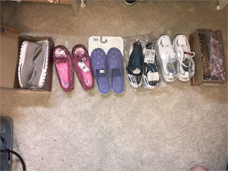 New Shoes and Slippers Lot