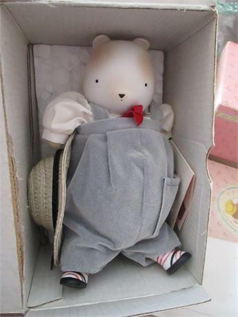 Vintage 1980's Radish Garden Hand painted Ceramic Doll Boy 1950