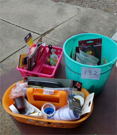 3 Containers with Miscellaneous Items