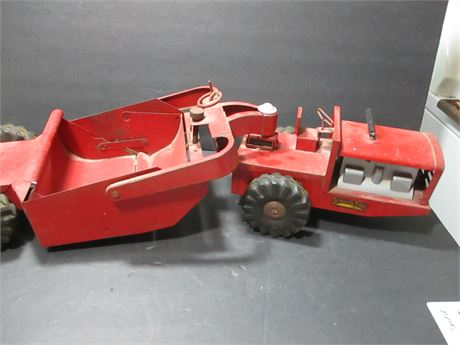 """Vintage 1950's Steel 22""""  Structo Earth Mover Scraper Toy Rare Collectible"""