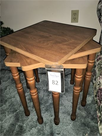 Three Wood Stacking Tables