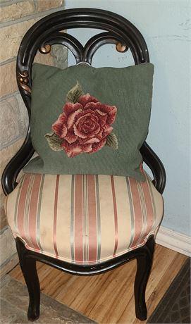 Wooden Chair & Pillow