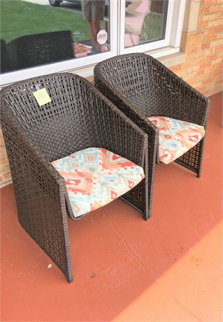 All-Weather Wicker Patio Chairs