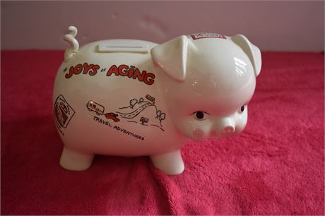 Joys of Aging themed Piggy Bank