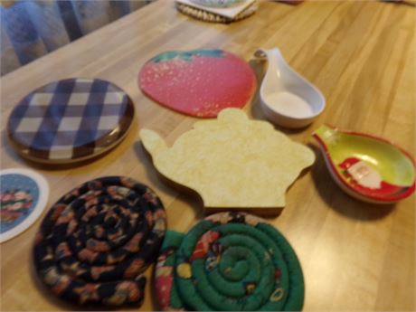 Variety of Trivets and Spoon Rests