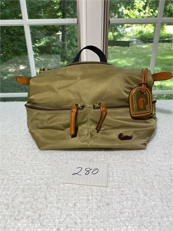 Authentic and Rare Dooney and Bourke Olive Green Nylon Handbag