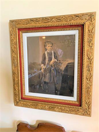 Antique Ornate Gold Gilded Frame