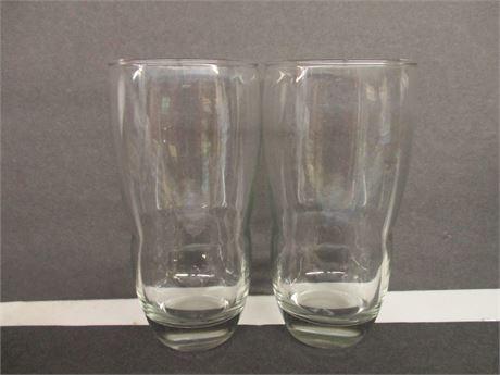 "2  Unusual Shaped 6 1/2""  Drinking  Unique Glasses"