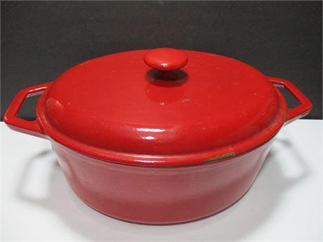 "12"" Cast Iron Enamel Ware Oval Dutch Oven Like Le Cruset"