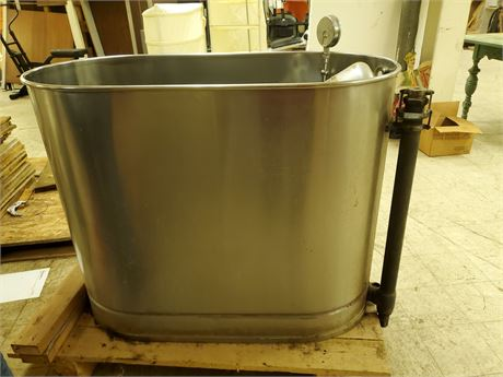 Vintage Stainless Steel ILLE Electric Whirlpool Tub w/ Motor
