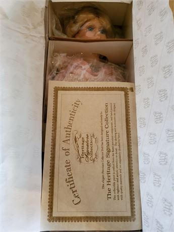 Heritage Signature Collection Porcelain Doll NIB