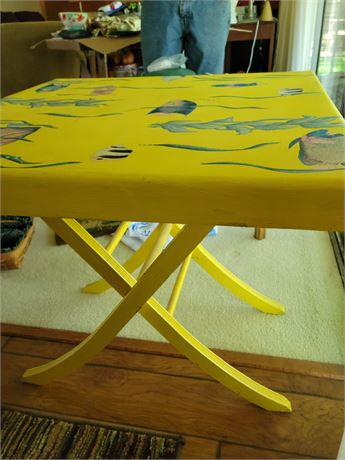Folding Fish Table - Hand Painted