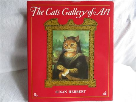 Vintage 1990 The Cats Gallery Of Art 32 Picture Plates Book