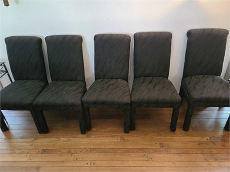 10 Black Fabric Dining Chairs