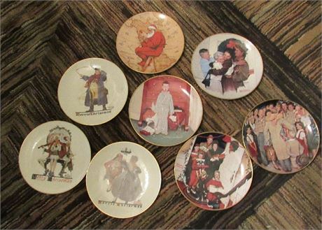 Norman Rockwell Collectible Plates - Spirit of Christmas